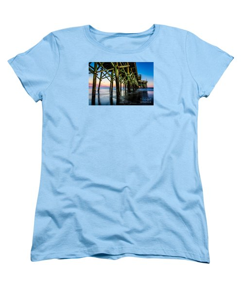 Pier Perspective Women's T-Shirt (Standard Cut) by David Smith