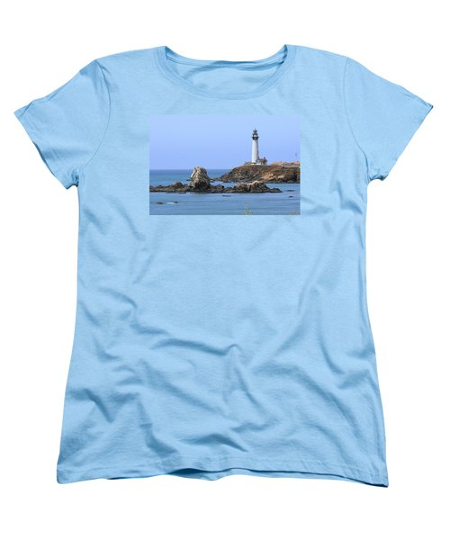 Pigeon Point Lighthouse Women's T-Shirt (Standard Cut) by Lou Ford