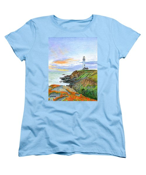 Pigeon Point Sunset Women's T-Shirt (Standard Cut) by Mike Robles