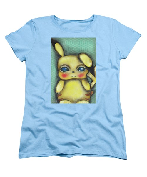 Pikachu  Women's T-Shirt (Standard Cut) by Abril Andrade Griffith
