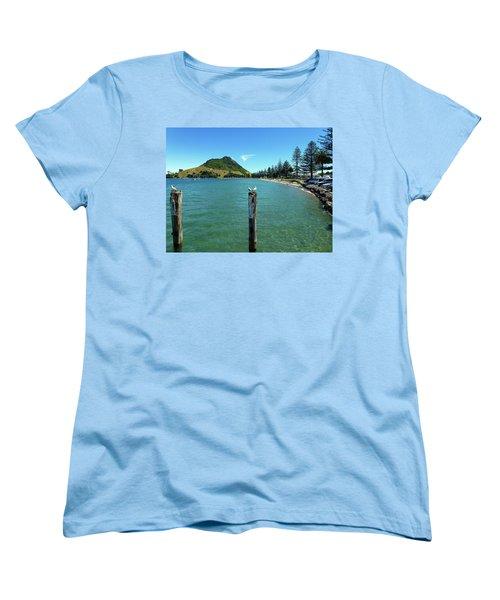 Pilot Bay Beach 1 - Mt Maunganui Tauranga New Zealand Women's T-Shirt (Standard Cut) by Selena Boron