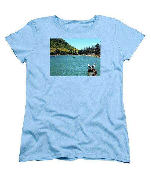 Pilot Bay Beach 5 - Mt Maunganui Tauranga New Zealand Women's T-Shirt (Standard Cut) by Selena Boron