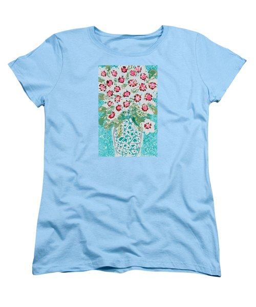 Pink And White Flowers Women's T-Shirt (Standard Cut)
