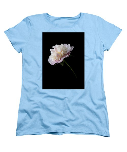 Pink And White Peony Women's T-Shirt (Standard Cut) by Patti Deters