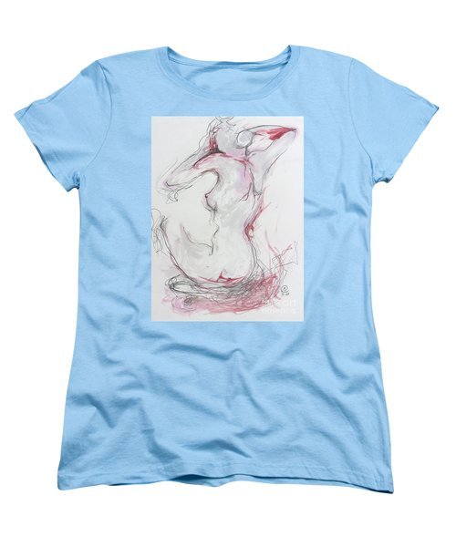 Women's T-Shirt (Standard Cut) featuring the drawing Pink Lady by Marat Essex