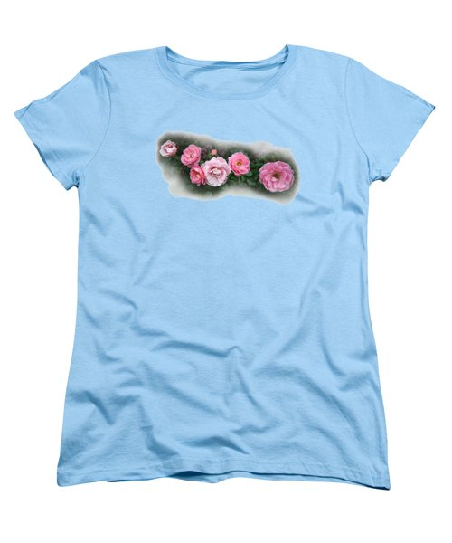 Pink Roses Women's T-Shirt (Standard Cut) by Leena Pekkalainen