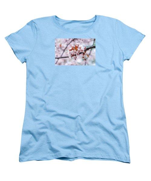 Women's T-Shirt (Standard Cut) featuring the photograph Pink Sakura Cherry Blossom by Alexander Senin