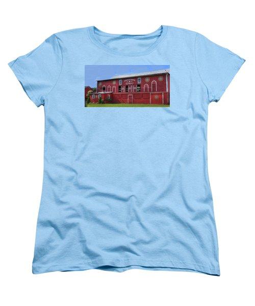 Women's T-Shirt (Standard Cut) featuring the digital art Pinnacle Ridge Winery by Sharon Batdorf
