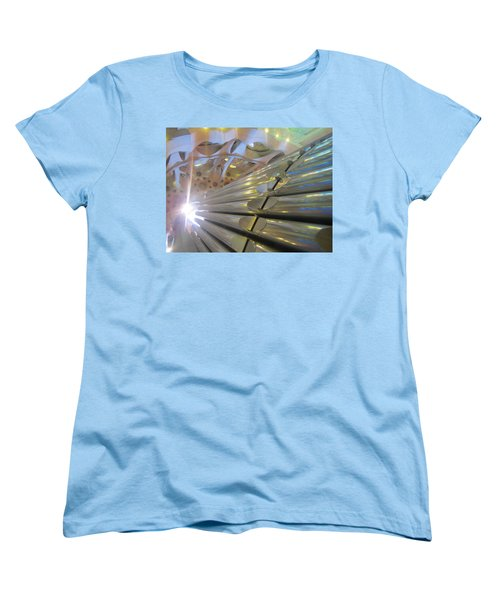 Women's T-Shirt (Standard Cut) featuring the photograph Pipe Organ Of La Sagrada by Christin Brodie
