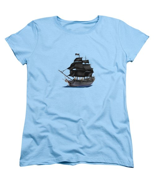 Pirate Ship At Sunset Women's T-Shirt (Standard Cut) by Glenn Holbrook