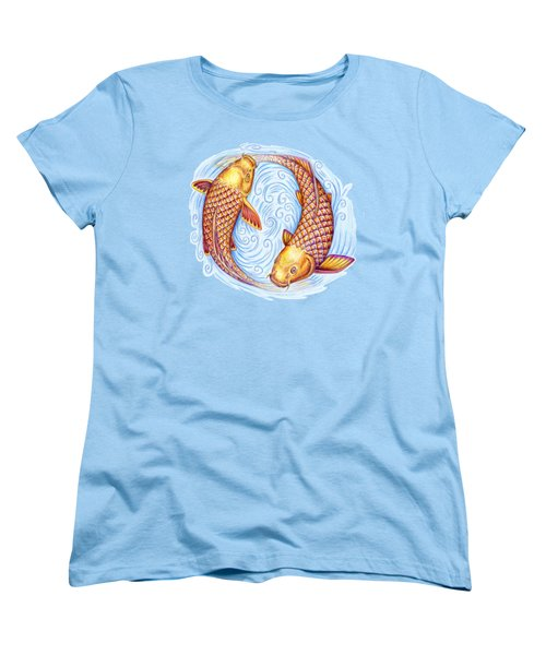 Pisces Women's T-Shirt (Standard Cut) by Rebecca Wang