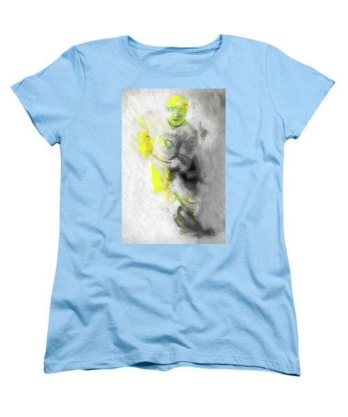 Women's T-Shirt (Standard Cut) featuring the photograph Pittsburgh Penguins Nhl Sidney Crosby Painting Fantasy by David Haskett