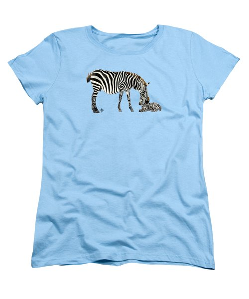Plains Zebras Women's T-Shirt (Standard Cut) by Angeles M Pomata