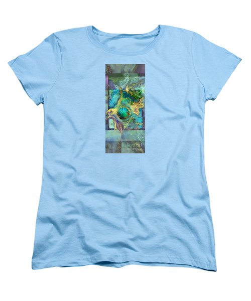 Planetary Collision 2 Women's T-Shirt (Standard Cut) by Ursula Freer