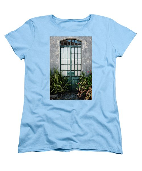 Women's T-Shirt (Standard Cut) featuring the photograph Plants In The Doorway by Marco Oliveira