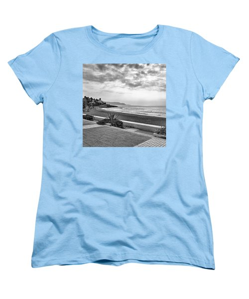 Playa Burriana, Nerja Women's T-Shirt (Standard Cut) by John Edwards