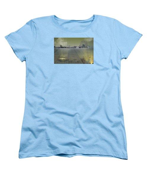 Women's T-Shirt (Standard Cut) featuring the digital art Playground On Planet X by Melissa Messick