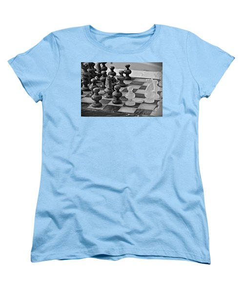 Women's T-Shirt (Standard Cut) featuring the photograph Playing Chess by Cendrine Marrouat