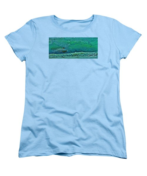 Playing In The Shore Break Women's T-Shirt (Standard Cut) by Craig Wood