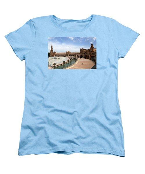 Women's T-Shirt (Standard Cut) featuring the photograph Plaza De Espana 4 by Andrew Fare