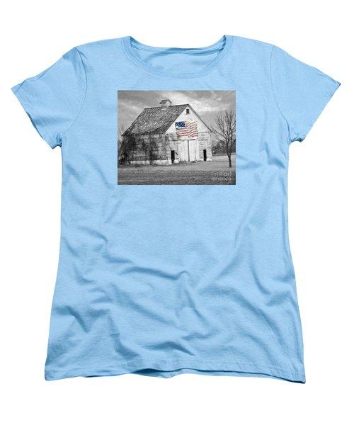 Pledge Of Allegiance Crib Women's T-Shirt (Standard Cut) by Kathy M Krause