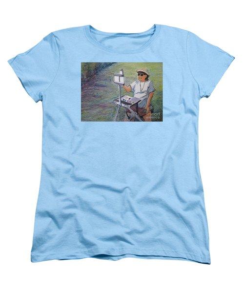 Plein-air Painter Bj Women's T-Shirt (Standard Cut) by Gretchen Allen