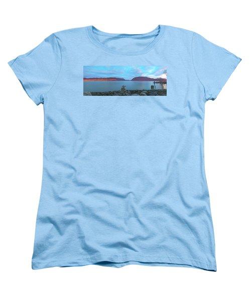 Plum Point Sunset Panorama Women's T-Shirt (Standard Cut) by Angelo Marcialis