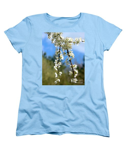 Women's T-Shirt (Standard Cut) featuring the photograph Plum Tree Blossoms by Stephen Melia