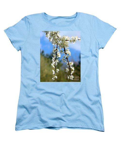 Plum Tree Blossoms Women's T-Shirt (Standard Cut) by Baggieoldboy