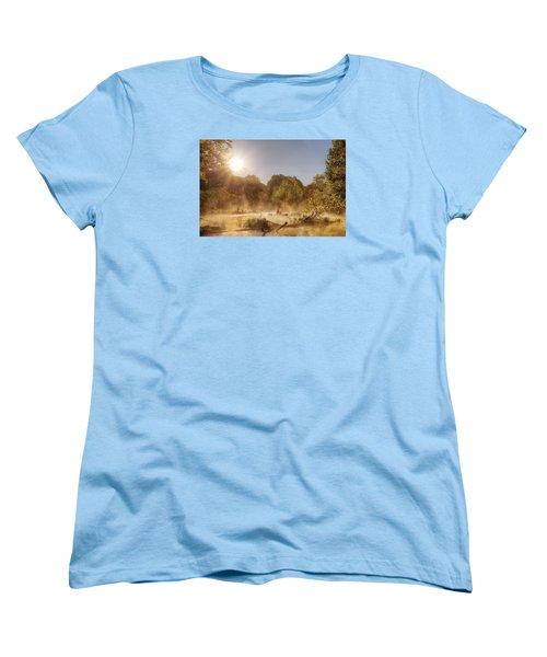 Plying Steamy Waters Women's T-Shirt (Standard Cut) by Robert Charity