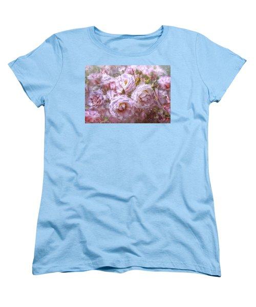 Pocket Full Of Roses Women's T-Shirt (Standard Cut) by Kari Nanstad