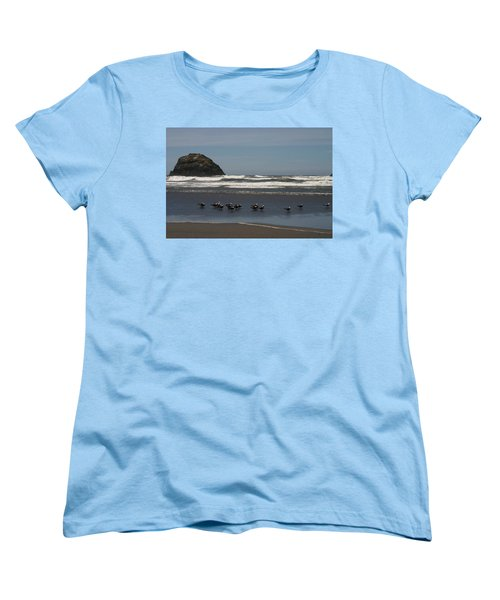 Poetry In Motion Women's T-Shirt (Standard Cut) by Marie Neder
