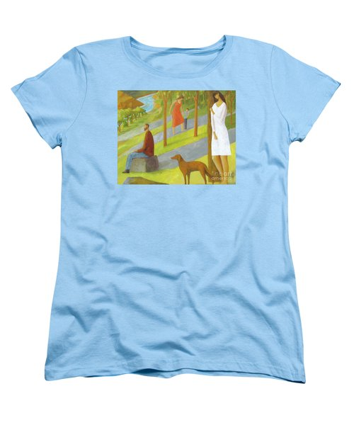Women's T-Shirt (Standard Cut) featuring the painting Poets Hill by Glenn Quist