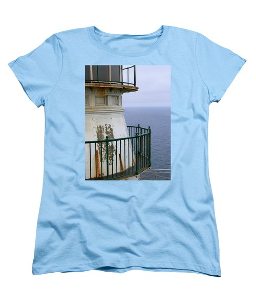 Point Reyes And The Pacific Ocean Women's T-Shirt (Standard Cut) by Laurel Powell