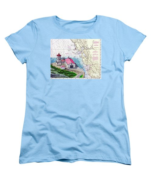 Point Reyes Light Station Women's T-Shirt (Standard Cut) by Mike Robles