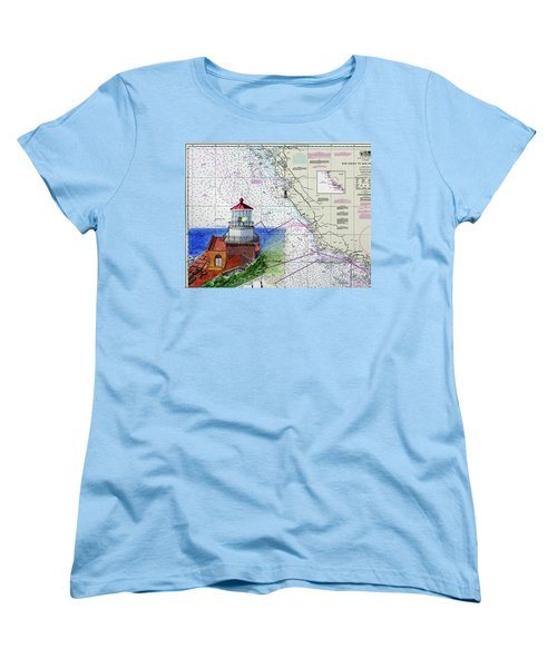 Point Sur Light Station Women's T-Shirt (Standard Cut) by Mike Robles