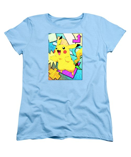 Pokemon - Pikachu Women's T-Shirt (Standard Cut) by Kyle West