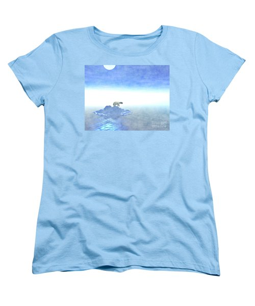 Women's T-Shirt (Standard Cut) featuring the digital art Polar Bear On Iceberg by Phil Perkins