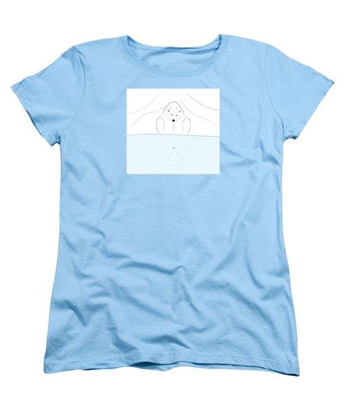 Polar Bear Reflection Women's T-Shirt (Standard Cut) by Greg Slocum