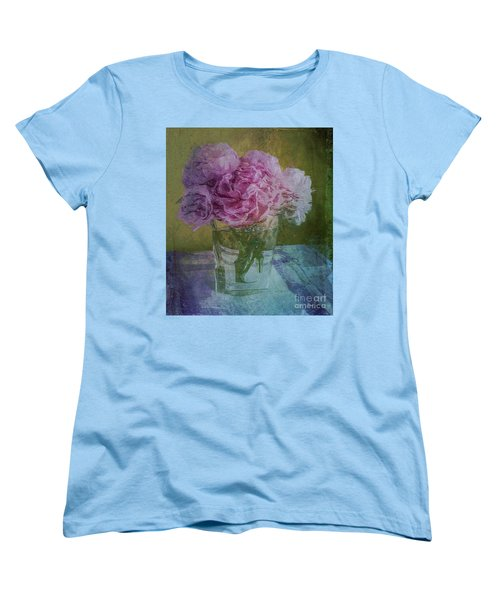 Polite Peonies Women's T-Shirt (Standard Cut) by Alexis Rotella