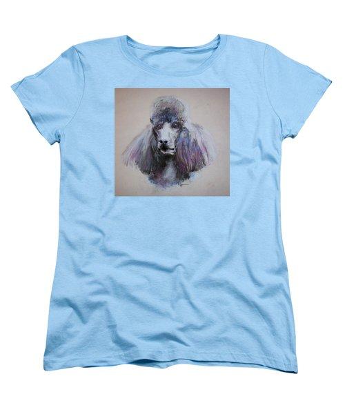 Poodle In Blue Women's T-Shirt (Standard Cut) by Rachel Hames