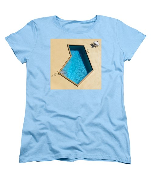 Women's T-Shirt (Standard Cut) featuring the photograph Pool Modern by Laura Fasulo