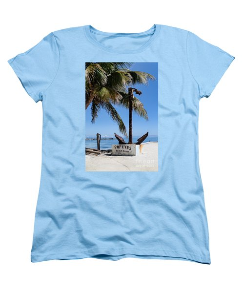 Women's T-Shirt (Standard Cut) featuring the photograph Popeyes by Lawrence Burry