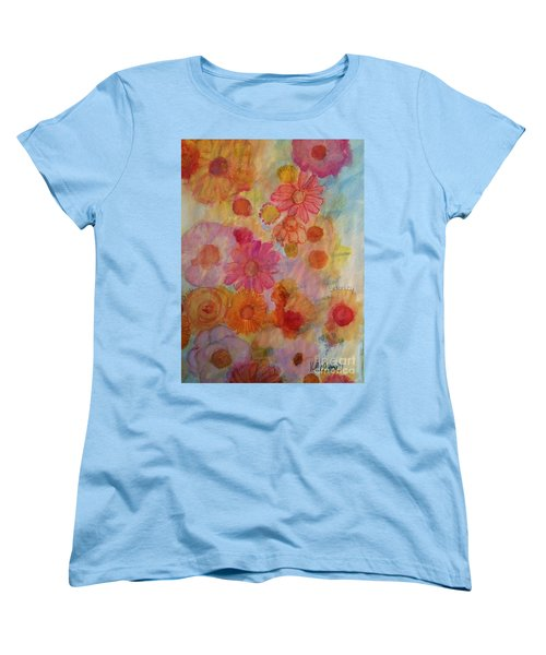 Women's T-Shirt (Standard Cut) featuring the painting Popping by Kim Nelson