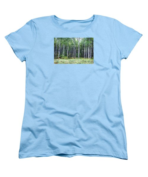 Popple Trees Women's T-Shirt (Standard Cut) by Susan Crossman Buscho