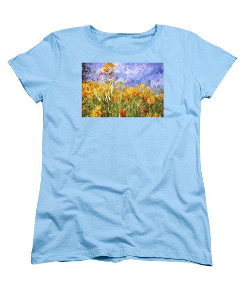 Poppy Field Women's T-Shirt (Standard Cut) by Bonnie Bruno