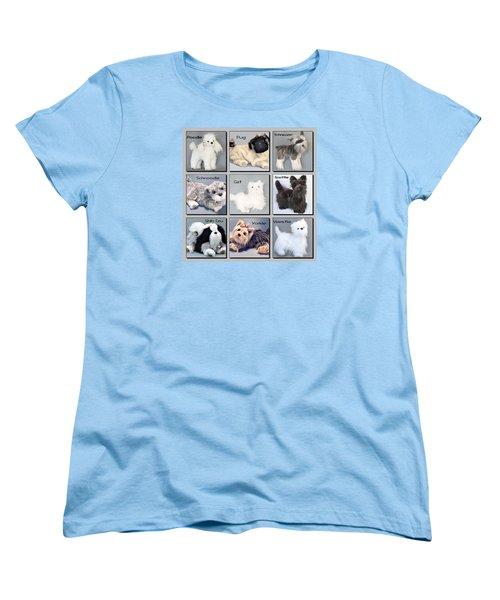 Popular Pooches Women's T-Shirt (Standard Cut) by David and Lynn Keller