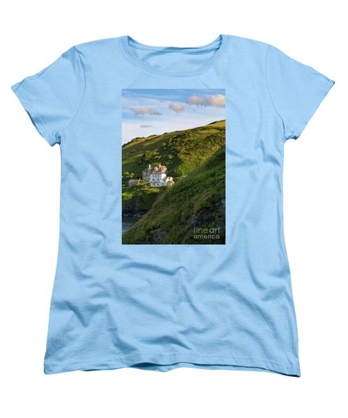 Women's T-Shirt (Standard Cut) featuring the photograph Port Isaac Homes by Brian Jannsen