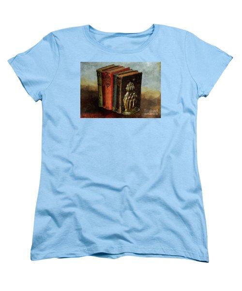Women's T-Shirt (Standard Cut) featuring the digital art Portable Magic by Lois Bryan
