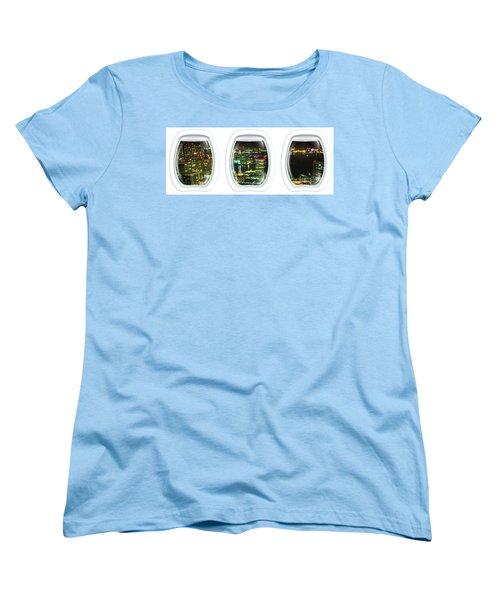 Porthole Frame On Tokyo Bay Area Women's T-Shirt (Standard Cut)
